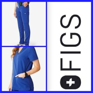 Figs Scrub Set Winning Blue Size Women's XL